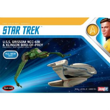 U.S.S Star Trek IIIGrissom NCC-638 and Klingon Bird of Prey Twin Pack Model Kit